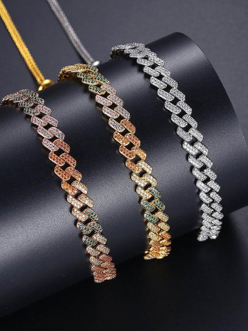 BLING SU Copper Cubic Zirconia Geometric Luxury Necklace 2