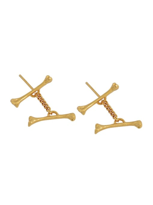 18K gold 925 Sterling Silver Irregular Minimalist Stud Earring