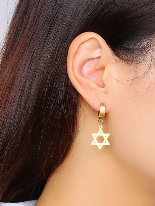 CONG Titanium Steel Geometric Minimalist Huggie Earring 3