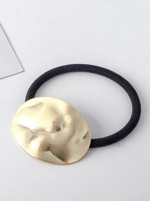 12 gold gravure ellipse Rubber band Minimalist Geometric Alloy Hair Rope