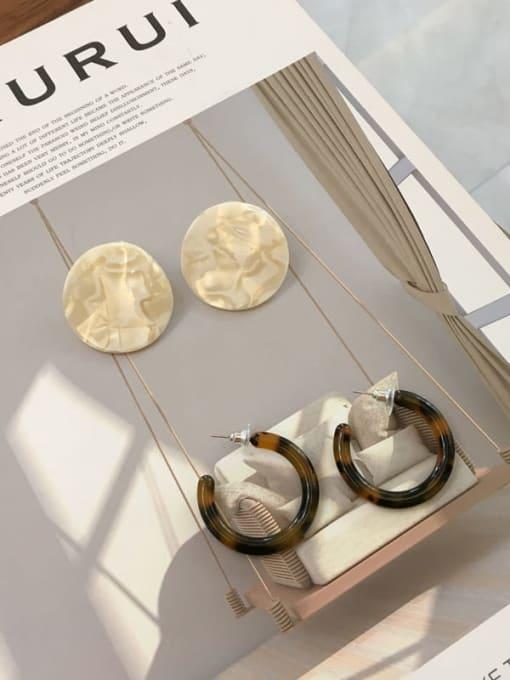 Chimera Cellulose Acetate Geometric Vintage Drop Earring 0