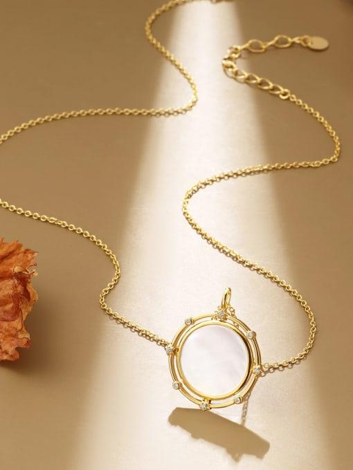 CHARME Brass Cats Eye Geometric Minimalist Necklace 1