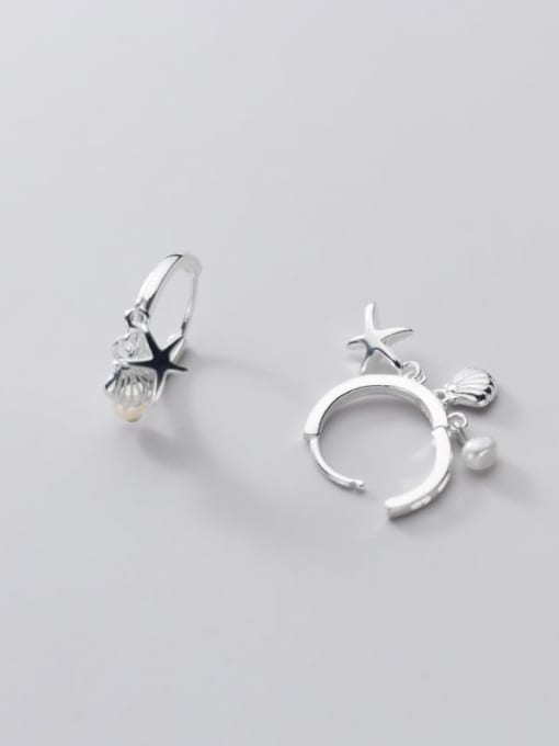 Rosh 925 Sterling Silver Star Cute Huggie Earring 4