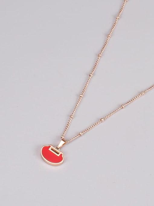 A TEEM Titanium Steel Enamel Heart Minimalist Necklace 2