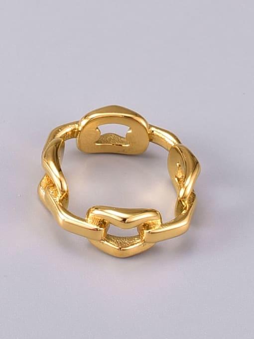 A TEEM Titanium Steel Hollow Geometric Vintage Band Ring 3