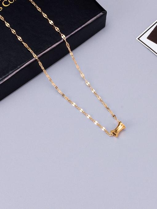 A TEEM Titanium Steel Geometric Minimalist Necklace 3