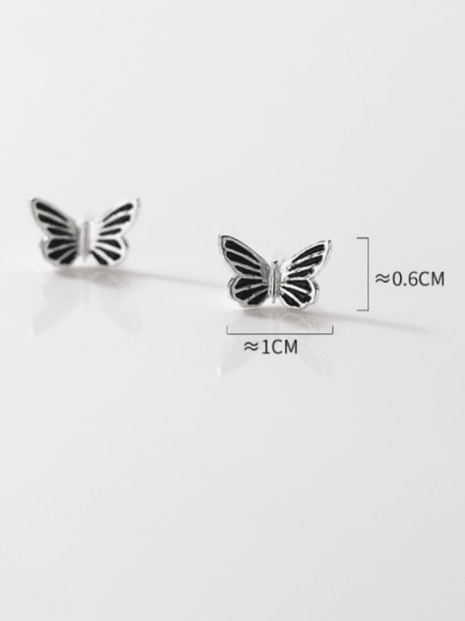 Rosh 925 Sterling Silver Butterfly Vintage Stud Earring 1
