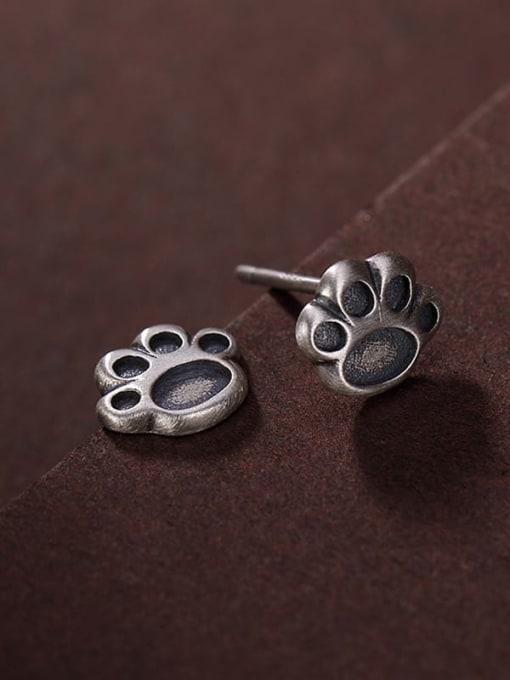 DEER 925 Sterling Silver Irregular Vintage Stud Earring 3