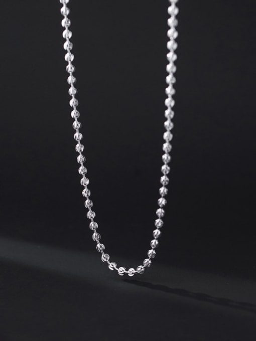 Rosh 925 Sterling Silver Round Minimalist Beaded Necklace 1
