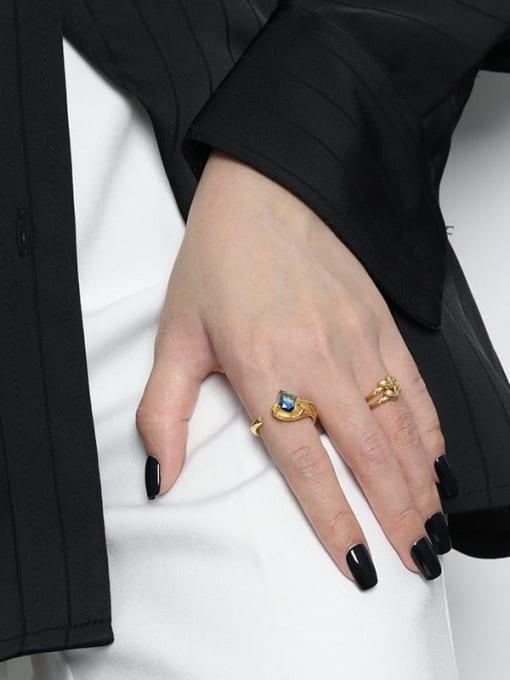 DAKA 925 Sterling Silver Heart Minimalist Band Ring 3