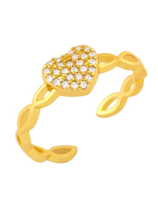 CC Brass Cubic Zirconia Butterfly Dainty Band Ring 1