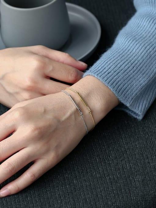 CHARME Brass Geometric Minimalist Link Bracelet 3