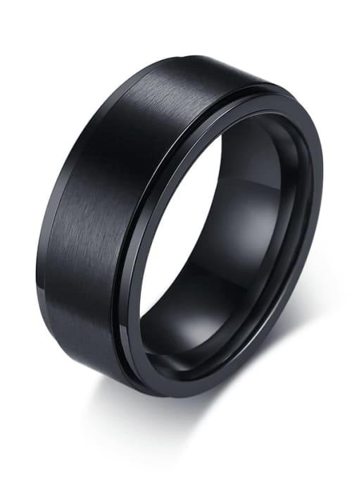 CONG Titanium Steel Round Minimalist Band Ring 0