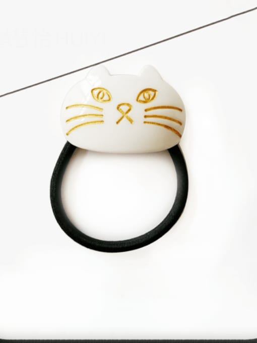 white Cellulose Acetate Minimalist Cat Hair Rope