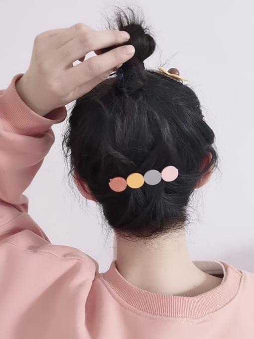 Chimera Alloy Wood Minimalist Geometric  Hair Barrette 1