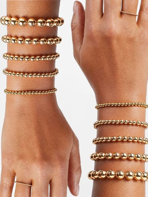 Roxi Stainless steel Bead Round Minimalist Beaded Bracelet 2