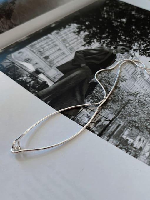 Boomer Cat 925 Sterling Silver Geometric Minimalist Necklace 2