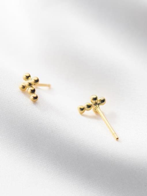 Rosh 925 Sterling Silver Cross Minimalist Stud Earring 2