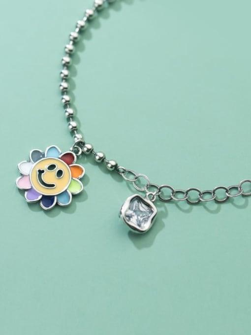 Rosh 925 Sterling Silver Flower Vintage Link Bracelet 1