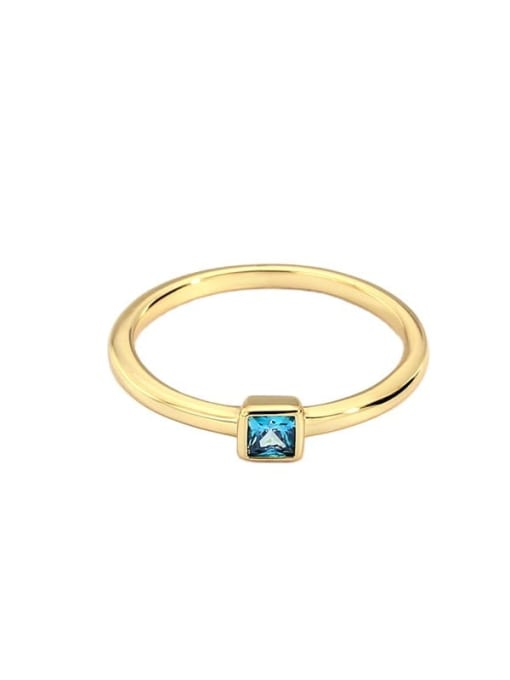 CHARME Brass Cubic Zirconia Round Minimalist Band Ring 4