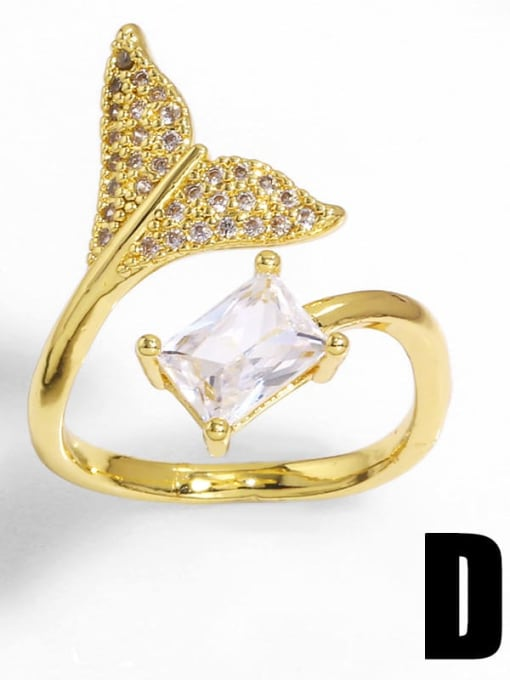 D Brass Cubic Zirconia Bowknot Trend Band Ring
