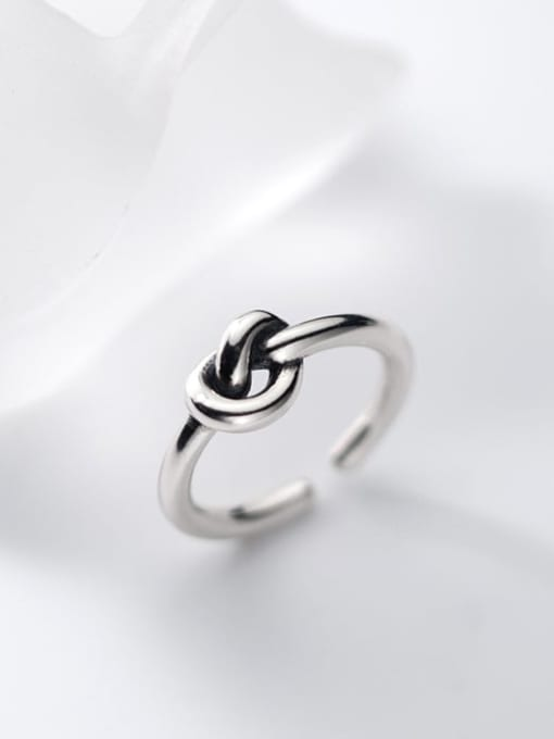 Rosh 925 Sterling Silver Bowknot Vintage Band Ring 2