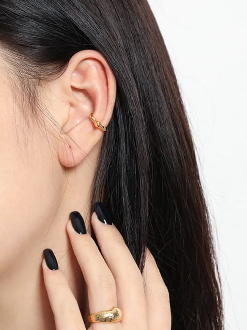 DAKA 925 Sterling Silver Irregular Minimalist Single Earring 3