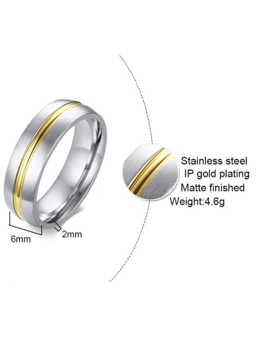 CONG Stainless steel Round Minimalist Couple Ring 1