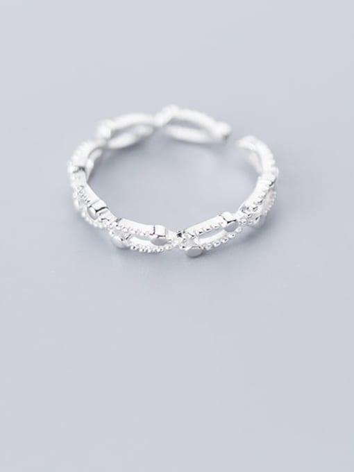 Rosh 925 Sterling Silver Cubic Zirconia  Irregular Minimalist Band Ring 2