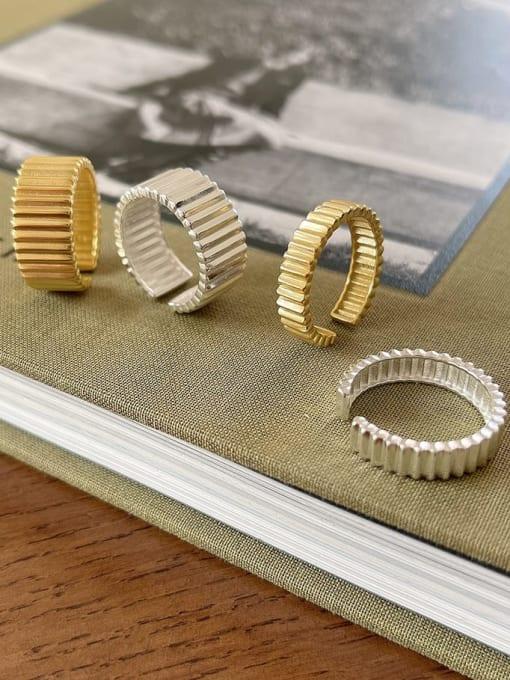 Boomer Cat 925 Sterling Silver Geometric Minimalist Band Ring