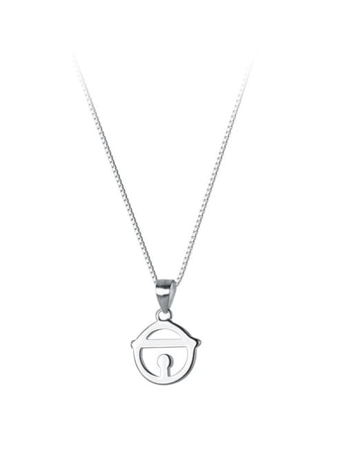 Rosh 925 Sterling Silver Geometric Minimalist Necklace 3