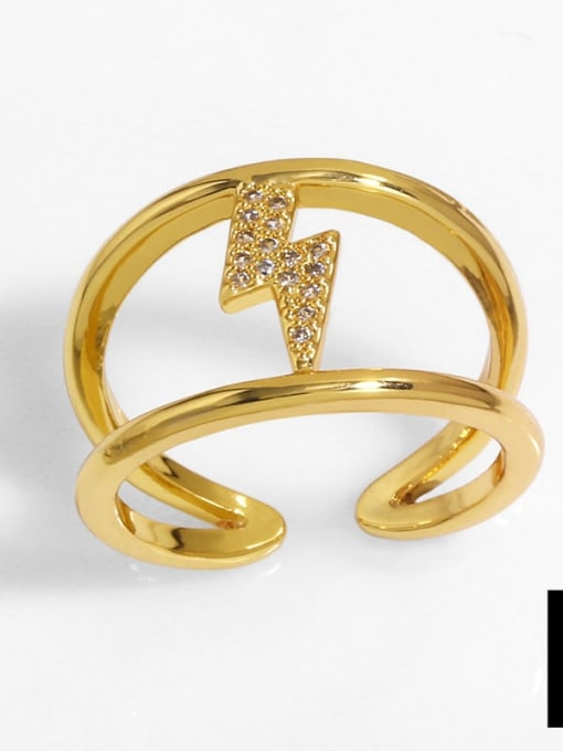 D Brass Cubic Zirconia Heart Vintage Band Ring