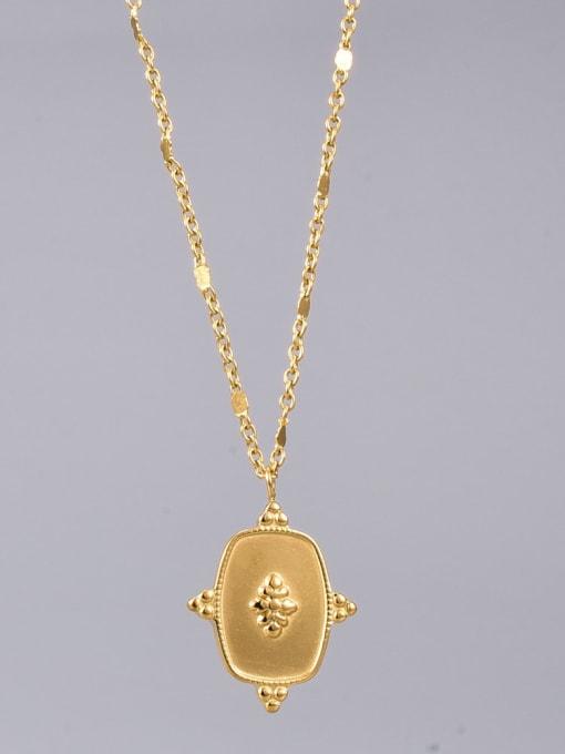 A TEEM Titanium Steel Geometric Vintage Pendant Necklace 1