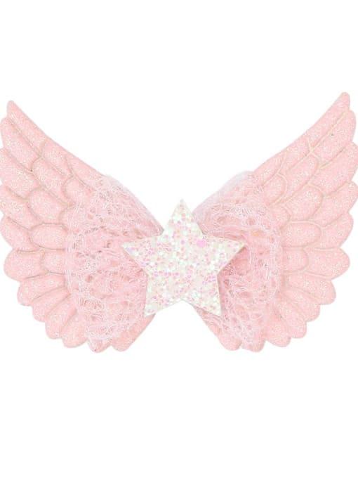4 light powder Alloy  Silk Cute Butterfly Multi Color Hair Barrette
