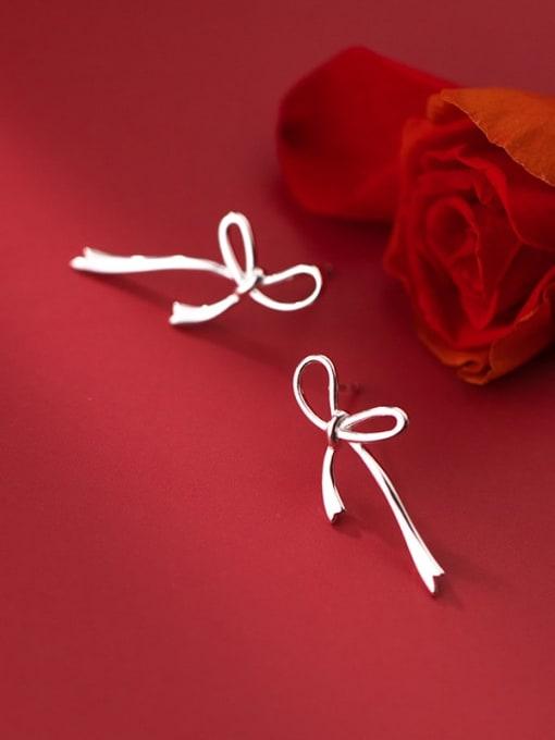Rosh 925 Sterling Silver Bowknot Minimalist Stud Earring 0