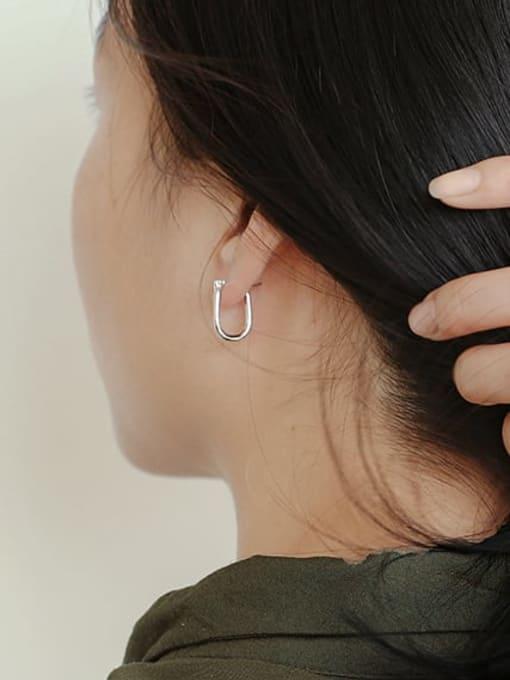 CHARME Brass Hollow  Geometric Minimalist Stud Earring 2