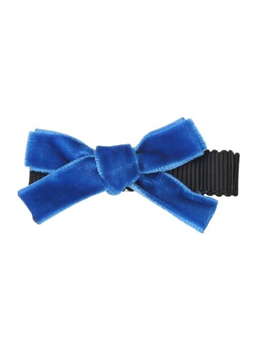 9 star blue Alloy Fabric Cute Bowknot  Multi Color Hair Barrette