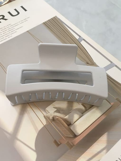 Frosted grey white Cellulose Acetate Minimalist Geometric Jaw Hair Claw