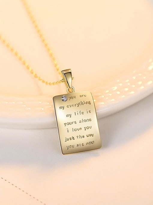 18K gold 14b04 925 Sterling Silver Letter Minimalist pendant Necklace