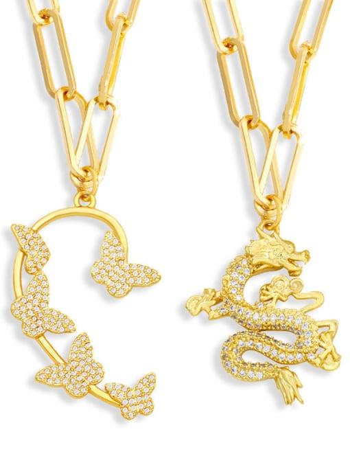 MMBEADS Brass Cubic Zirconia Butterfly Hip Hop Necklace 4