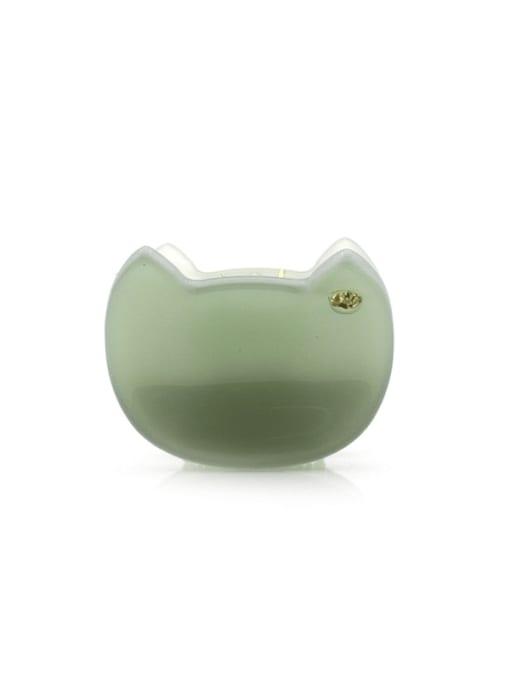 green Cellulose Acetate Minimalist Friut Zinc Alloy Jaw Hair Claw