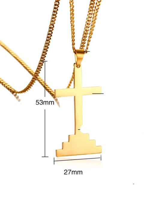 CONG Stainless steel Cross Hip Hop Necklace 1