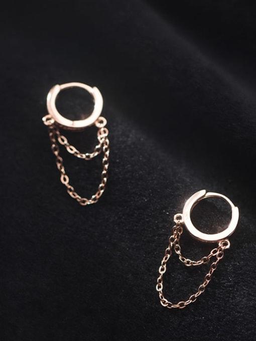 Rosh 925 Sterling Silver Tassel Vintage Huggie Earring 3