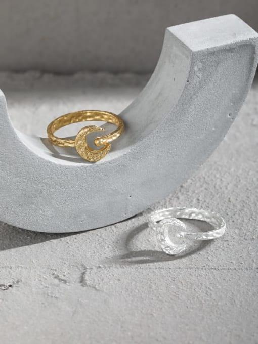 DAKA 925 Sterling Silver Geometric Vintage Band Ring 1