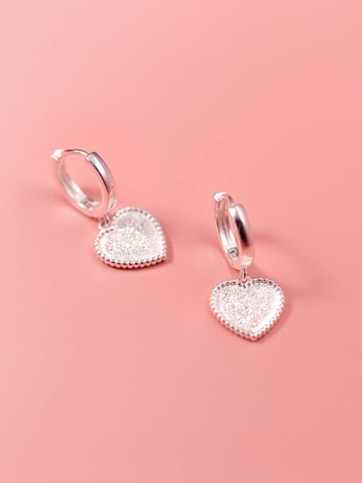 Rosh 925 Sterling Silver Heart Minimalist Huggie Earring 2