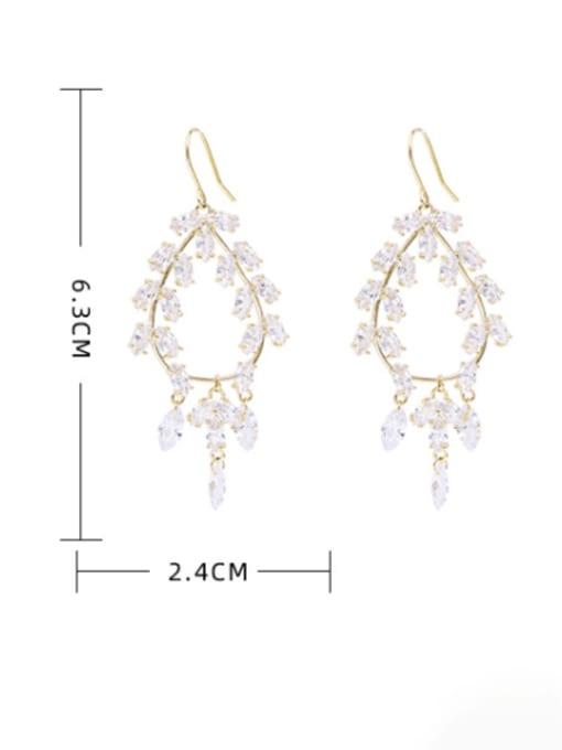Luxu Brass Cubic Zirconia Geometric Minimalist Hook Earring 3