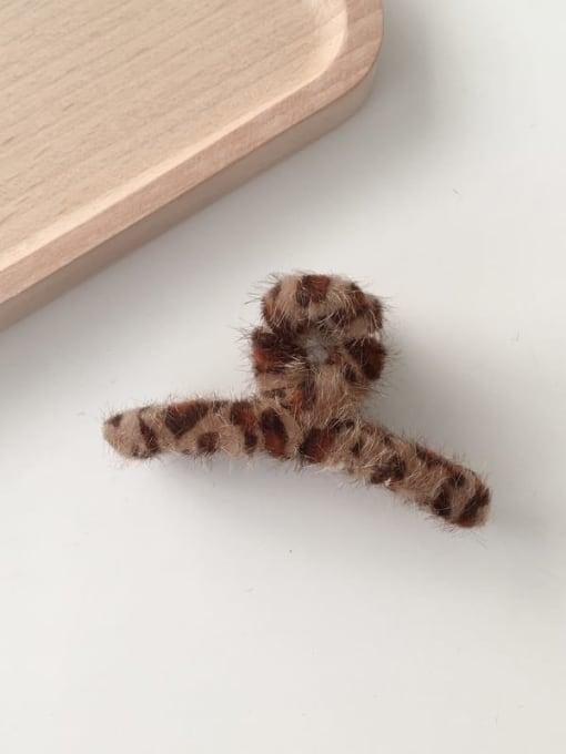 Deep leopard, 7.5cm*3.6cm Alloy  Ethnic Leopard Leopard Hair Scratching Jaw Hair Claw