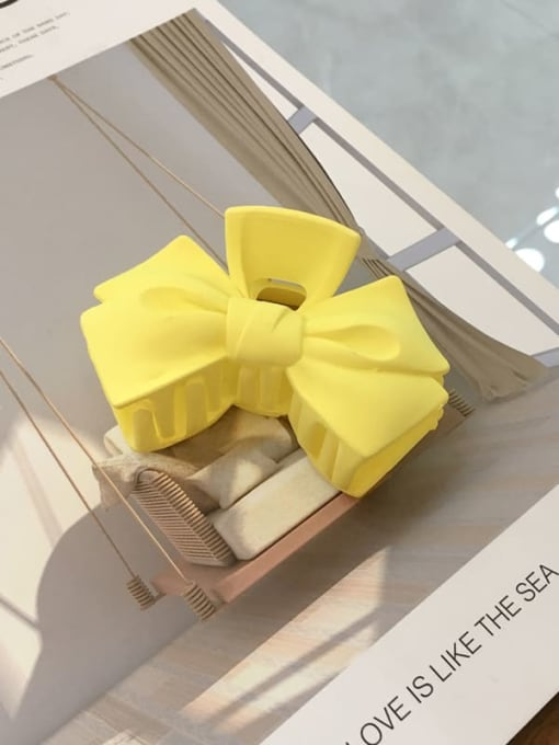 yellow Cellulose Acetate Minimalist  multicolor Bowknot Jaw Hair Claw