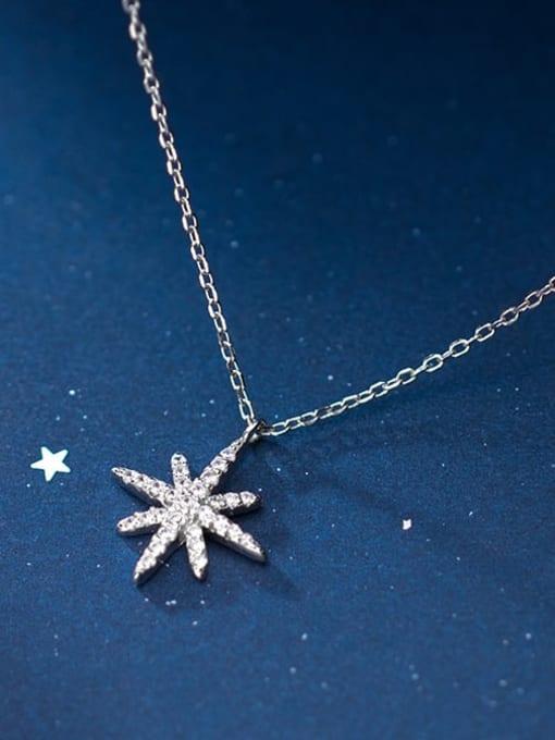 Rosh 925 Sterling Silver Rhinestone  Star Dainty Necklace