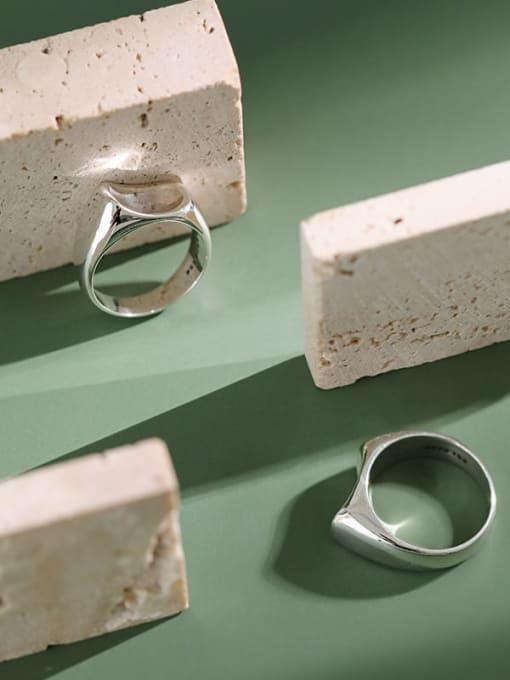 Dak Phoenix 925 Sterling Silver smooth Irregular Vintage Ring 1